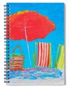 Beach Art - The Red Umbrella Spiral Notebook