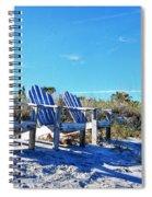 Beach Art - Waiting For Friends - Sharon Cummings Spiral Notebook