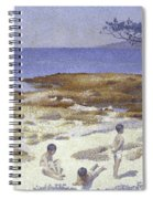 Beach At Cabasson Spiral Notebook