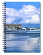 Beach At Isle Of Palms Spiral Notebook