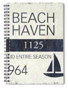 Beach Badge Beach Haven Spiral Notebook