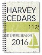 Beach Badge Harvey Cedars Spiral Notebook