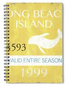 Beach Badge Long Beach Island 2 Spiral Notebook
