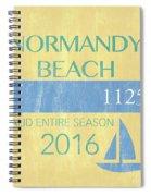 Beach Badge Normandy Beach 2 Spiral Notebook