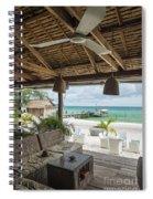 Beach Bar In Sok San Area Of Koh Rong Island Cambodia Spiral Notebook