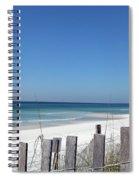 Beach Behind The Fence Spiral Notebook