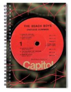 Beach Boys Endless Summer Lp Label Spiral Notebook
