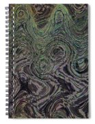 Beach Bubbles Abstract Spiral Notebook