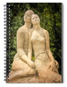 Beach Buddies Blue Water Sand Sculpture Spiral Notebook