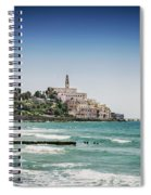 Beach By Jaffa Yafo Old Town Area Of Tel Aviv Israel Spiral Notebook