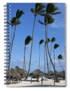 Beach Cabanas And Palm Trees Spiral Notebook