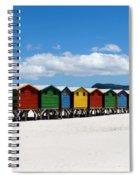 Beach Cabins  Spiral Notebook
