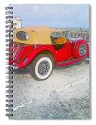 Beach Car Spiral Notebook