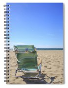 Beach Chair On A Sandy Beach Spiral Notebook