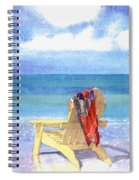 Beach Chair Spiral Notebook