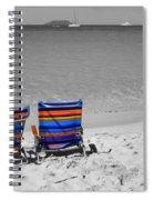 Beach Chairs 2  Spiral Notebook