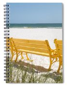 Beach Chairs By Darrell Hutto Spiral Notebook