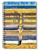Beach Closed Asbury Park Nj Spiral Notebook