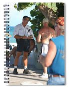 Beach Cops And Christ Spiral Notebook