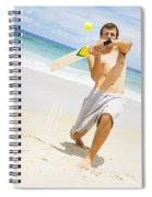 Beach Cricket Slog Spiral Notebook