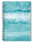 Beach Day Blue- Art By Linda Woods Spiral Notebook