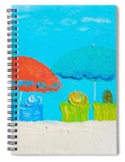 Beach Decor - Umbrellas Panorama Spiral Notebook
