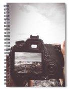 Beach Digital Photography Spiral Notebook