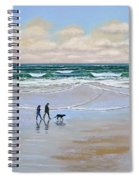 Beach Dog Walk Spiral Notebook