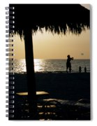 Beach Frisbee At Sunset On Marco Island Florida Spiral Notebook
