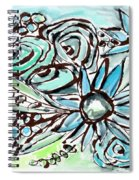 Beach Glass Flowers 1- Art By Linda Woods Spiral Notebook