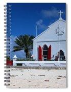 Beach Grand Turk Church Spiral Notebook