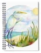 Beach Heron Spiral Notebook