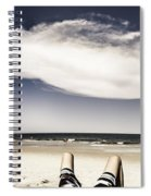 Beach Holiday Man Vertical Panorama Spiral Notebook