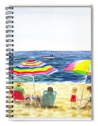 Beach House Window Spiral Notebook