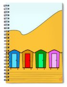 Beach Huts And Sand Spiral Notebook