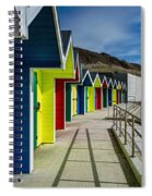 Beach Huts At Barry Island Spiral Notebook