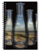 Beach In Bottles Spiral Notebook