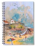 Beach In Ericeira In Portugal Spiral Notebook