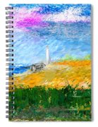Beach Lighthouse Spiral Notebook