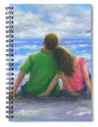 Beach Lovers Pink And Green Spiral Notebook