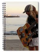 Beach Musician Spiral Notebook