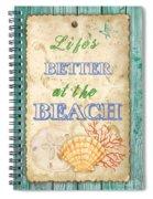 Beach Notes-jp3761 Spiral Notebook