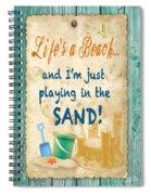 Beach Notes-jp3762 Spiral Notebook