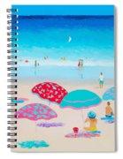 Beach Painting - A Golden Day Spiral Notebook