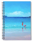Beach Painting - A Sea Breeze Spiral Notebook