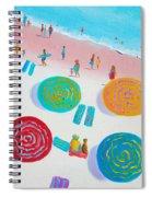 Beach Painting - A Walk In The Sun Spiral Notebook