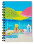 Beach Painting - Beach Life Spiral Notebook