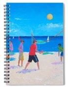 Beach Painting Beach Volleyball  By Jan Matson Spiral Notebook