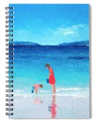Beach Painting - Cooling Off Spiral Notebook