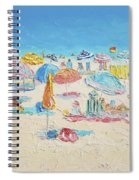 Beach Painting - Crowded Beach Spiral Notebook